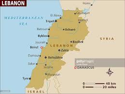 Map Of Lebanon Map Of Lebanon Stock Illustration Getty Images