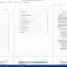 disaster recovery plan template ms word excel throughout
