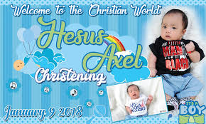 layout design for christening simple but cute tarpaulin design for christening get layout