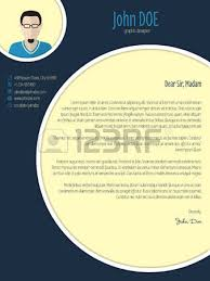 cool cover letter resume cv template design with business suit