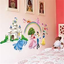 Wall Decor Stickers by Children Bedroom Princess Pink Style Wall Decals Stickers