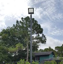 outdoor light pole mount half led basketball court 17 fc quick ship max life