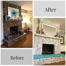 fireplace makeover before and after with faafbaebaffddaa