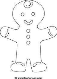 gingerbread man coloring page printable