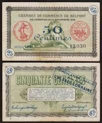 chambre du commerce belfort 50 centimes 1918 belfort billet de nécessité chambre de