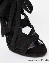 pas cher new look sandales à talons avec ruban à nouer style