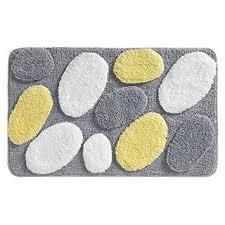 Yellow And Gray Kitchen Rugs Amazon Com Interdesign Pebblz Rug 34 X 21