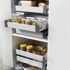 panier coulissant pour meuble de cuisine tiroir à l anglaise simple hauteur pour meuble l 60 cm delinia
