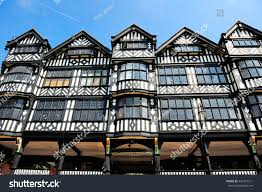 english style house traditional old english style houses chester stock photo 446427211