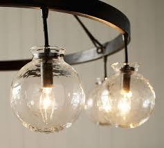 Globe Light Fixtures Barrett Glass Globe Chandelier Pottery Barn