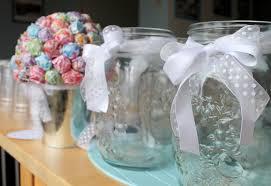 baptism table centerpieces flowers in jars ai events