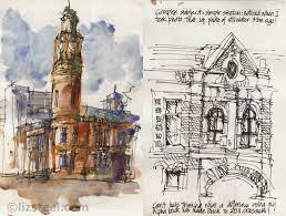 tastrip street scenes vs iconic building sketches liz steel