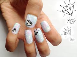 20 cute nail designs with diamonds diamond nail design pictures