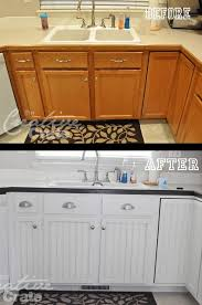painting flat kitchen cabinets adding beadboard to center of cabinets ingenius home
