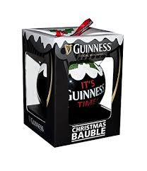 guinness tree decoration pint bauble