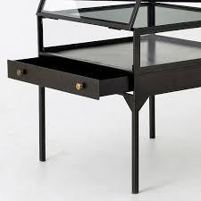 glass shadow box coffee table shadow box side table west elm