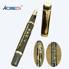 fontaine de bureau nib fontaine stylo en acier inoxydable noir d encre stylo chine
