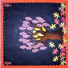 Autumn Tree Decorations Autumn Classroom Bulletin Board Ideas