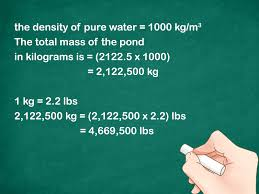 how to calculate the weight of a body of water 9 steps