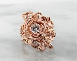 Rose Gold Wedding Ring Sets by Diamond Rose Gold Wedding Ring Set Jane Rose Wexford Jewelers