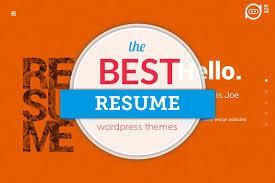 Wordpress Resume Themes 55 Best Wordpress Resume Themes 2017