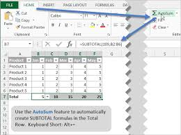 how to create a table in excel 2016 sum all columns in the total row of an excel table video
