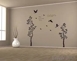 Quotes For Dining Room by Delightful Decoration Living Room Decals Skillful Design Two Trees