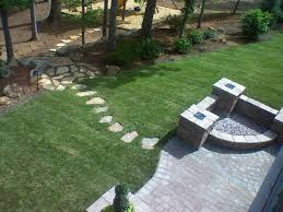 Pictures Of Patios With Fire Pits Photos Of Our Landscaping Lawn Design Cement Paver Installations