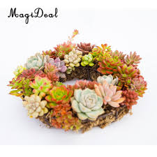 magideal iron wire wreath frame succulent pot metal hanging