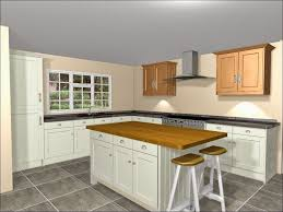Kitchen Oven Cabinets by Kitchen Design L Shaped Layout Built In Oven Cabinets Interactive