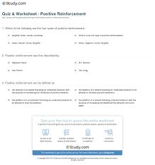 quiz u0026 worksheet positive reinforcement study com