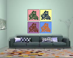 deko hibiskus blüte für die wohnzimmer wand