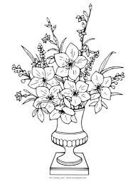 beautiful flower vase with flowers drawing drawing flower pots