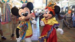 caribbean attire mickey minnie greet us in island attire disney s