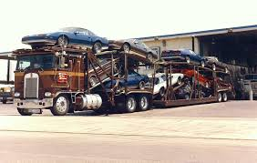 brand new kenworth vintage auto transport load of brand new 1989 maybe camaros and