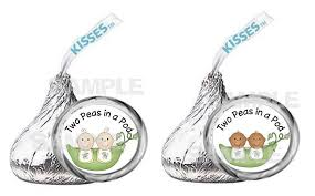 Two Peas In A Pod Ornament Peapods Two Peas In A Pod Twins Baby Shower Kiss Labels Party
