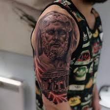 rome mens lightning bolts hercules half sleeve tattoos tatoos