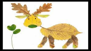 how to make animal pictures with leaves leaf arts for kids