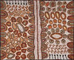 when did we first see aboriginal dot painting japingka