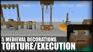 Medieval Decorations 5 Ways To Make Medieval Torture Execution Decorations In Minecraft