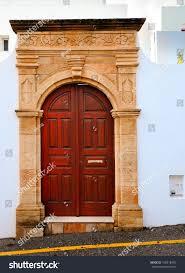 Keyhole Doorway Wooden Ancient Door Greek City Stock Photo 108518450 Shutterstock