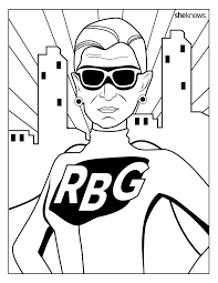 coloring book celebrate the notorious rbg s birthday with this printable