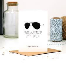 modern fathers day cards with ban aviator sunglasses to tell
