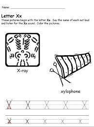 free printable letter x worksheets for kindergarten u0026 preschool