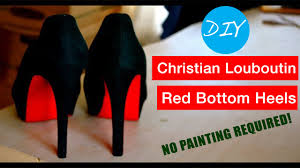 diy christian louboutin red bottom heels no painting required