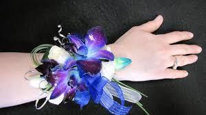 blue dendrobium orchids a corsage blue dendrobium orchid wrist corsage blue dendrobium