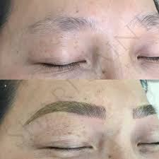 microblading 3d strokes eyebrow tattoo bare fruit brows