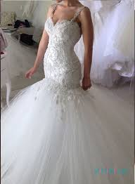 h1388 curvy beading lace mermaid wedding dress