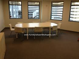 Ikea Conference Table And Chairs Ikea Bekant Conference Table Assembled In Bethesda Md By Furniture