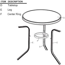 Patio Table Legs Patio Table Legs Replacement Parts Oasis Amor Fashion